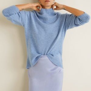 Ribbed Neck Sweater